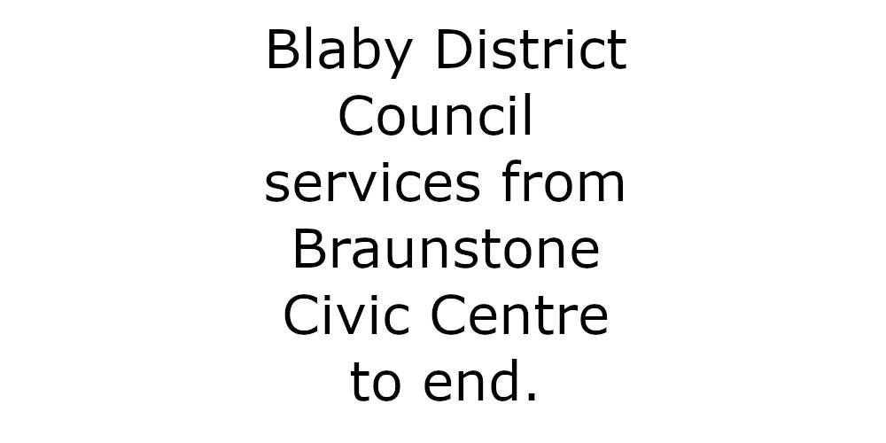 Blaby District Council services to end