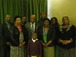 The Town Mayor and her family at the Annual Meeting of the Council