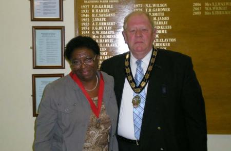 The Town Mayor with his Deputy Miss Anthea Ambose