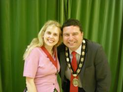 Mr Gary Sanders Town Mayor with Deputy Town Mayor Mrs Sam Fox Kennedy