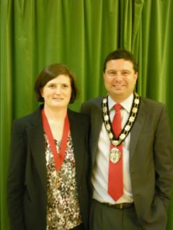 The Town Mayor and his consort his wife Fiona