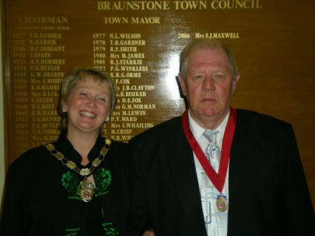 The Town Mayor with the Deputy Town Mayor Mr David Widdowson