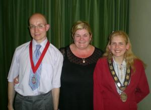 The Town Mayor and Consort with Mrs Jo Fox Leader of the Council
