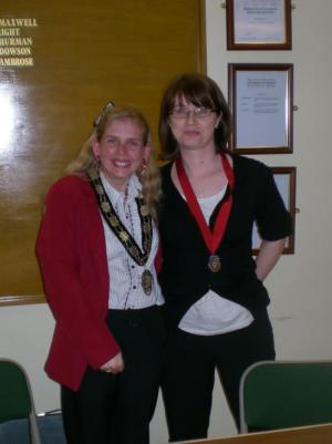 The Town Mayor with Deputy Town Mayor Miss Amanda Hack