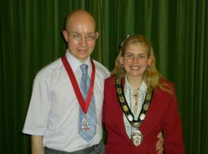 The Town Mayor with her Consort Mr Paul Kennedy