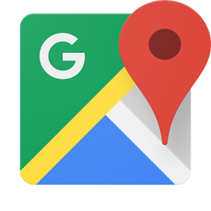 Logo for Google Maps, linking to a map showing the Braunstone Town Community Library.